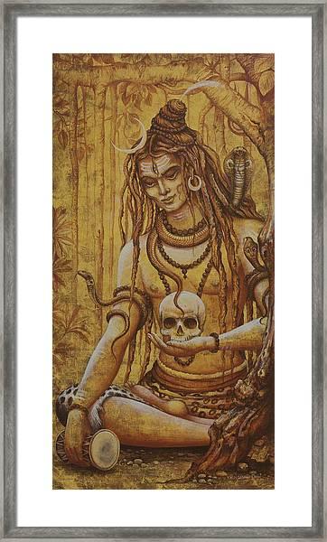 Mahadev. Shiva Framed Print