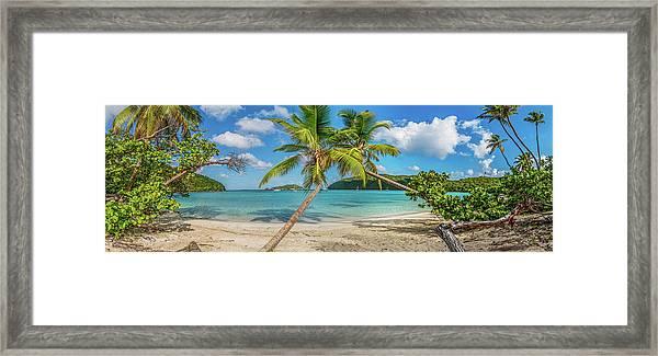 Maho Panorama Framed Print
