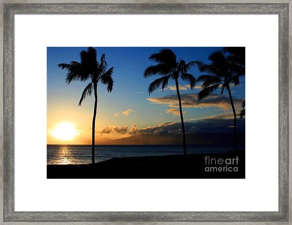 Mai Ka Aina Mai Ke Kai Kaanapali Maui Hawaii Framed Print