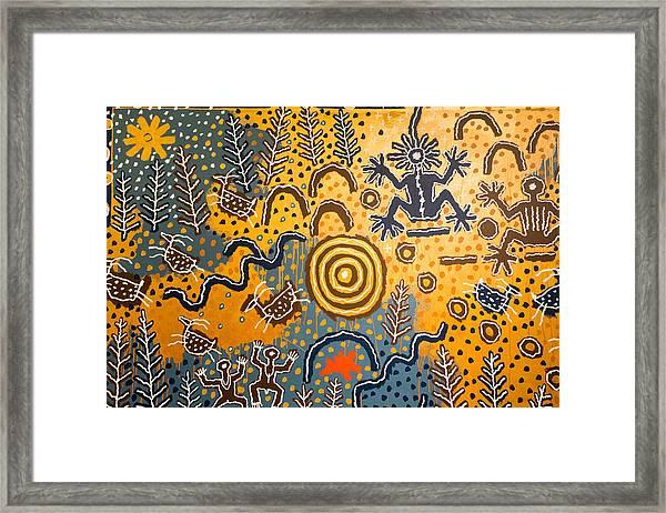 Maidu Creation Story Framed Print