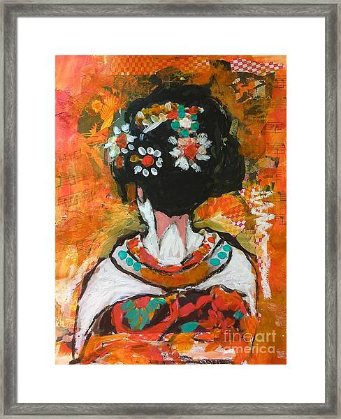 Maiko In Orange  Framed Print