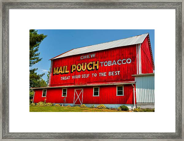 Mail Pouch Barn Framed Print