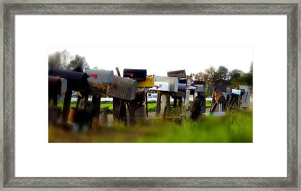 Mailboxes 2 Framed Print