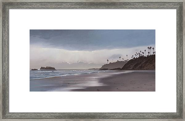 Main Beach Reflections Framed Print