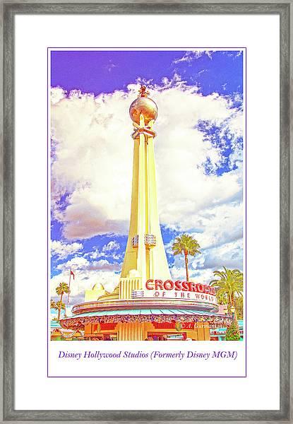 Main Entrance, Disney Hollywood Studios, Walt Disney World Framed Print