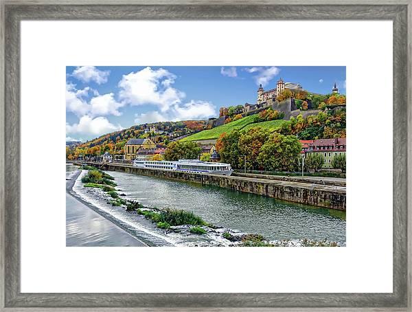 Main River Panorama Framed Print