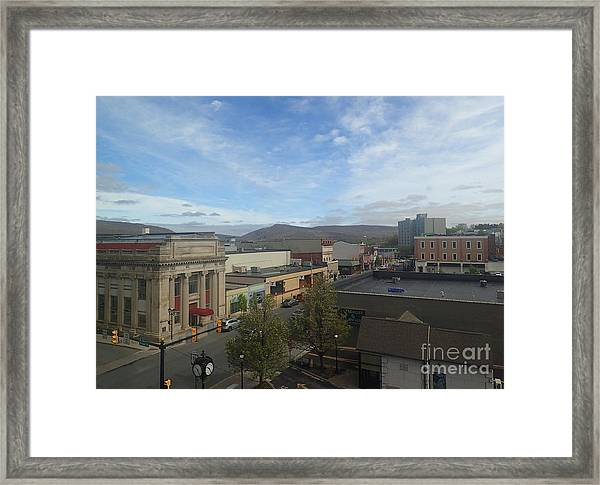 Main St To The Mountains   Framed Print