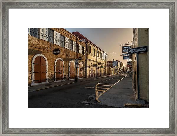 Main Street Sunday Framed Print