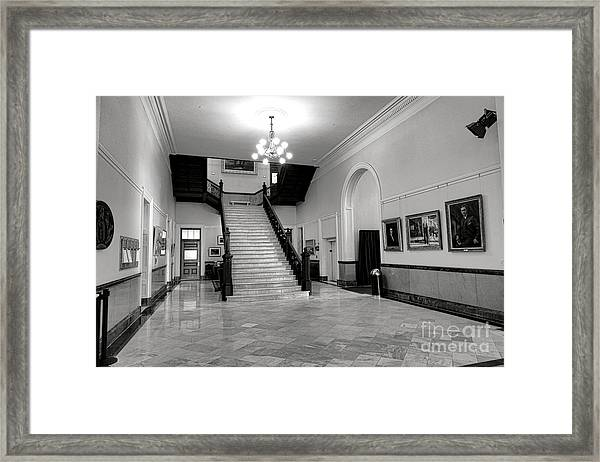 Maine Capitol West Wing Framed Print
