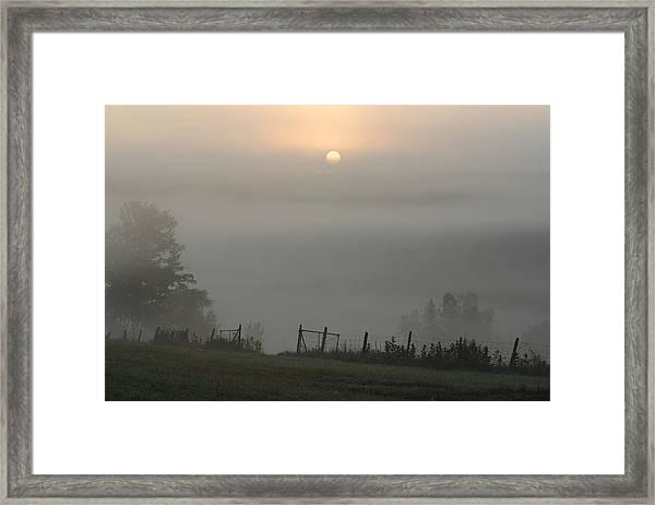 Maine Morning Framed Print