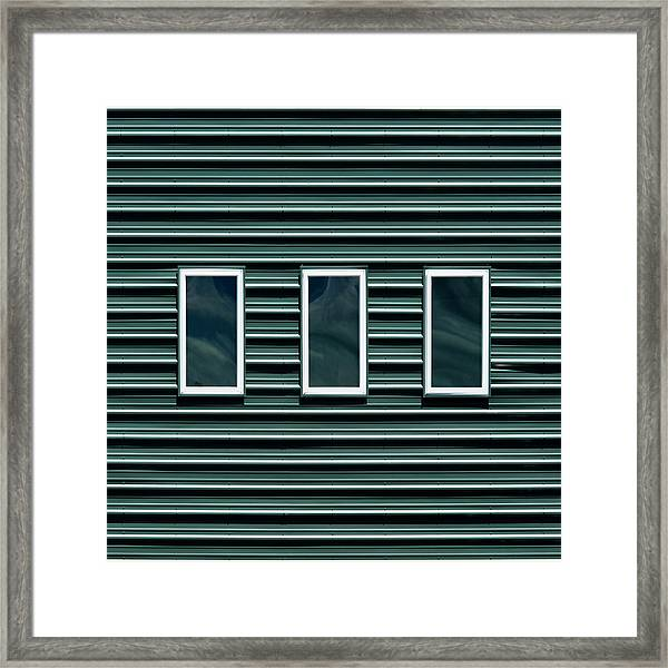 Maine Windows 2 Framed Print