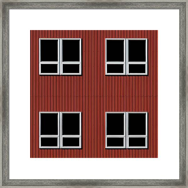 Maine Windows 3 Framed Print