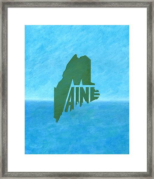Maine Wordplay Framed Print
