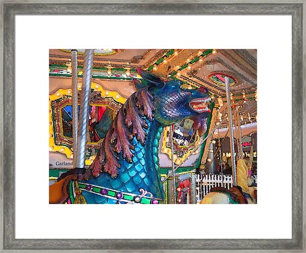 Majestic Blue Horse Framed Print