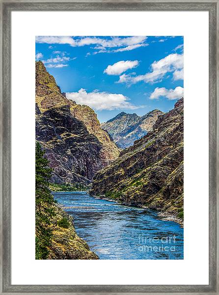 Majestic Hells Canyon Idaho Landscape By Kaylyn Franks Framed Print