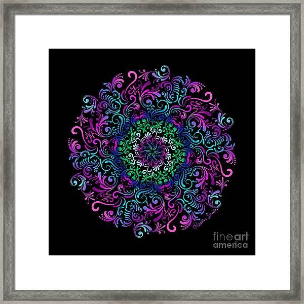 Majestic Kaleidoscope Framed Print