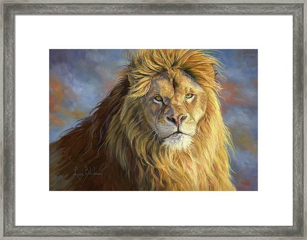 Majestic King Framed Print