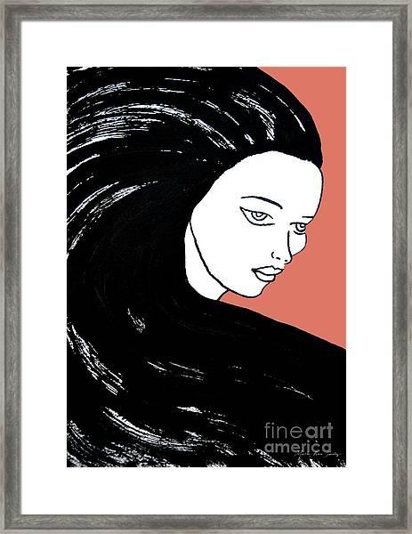 Majestic Lady J0715d Calypso Coral 17-1744 Ee5c6c  De7766 Framed Print