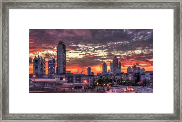 Majestic Sunrise Midtown Atlanta Framed Print