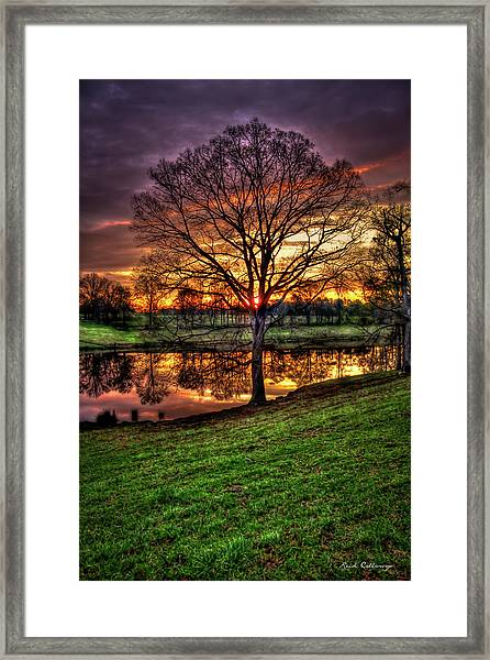 Majestic Sunrise Reflections Art Framed Print