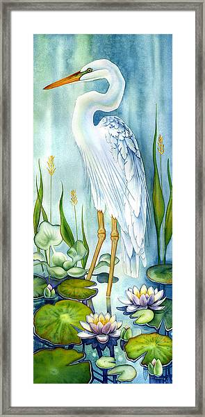Majestic White Heron Framed Print