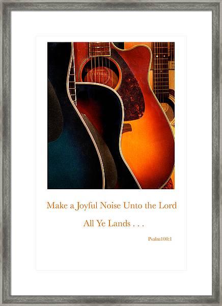 Make A Joyful Noise Framed Print by Linda Merkel