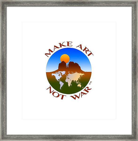Make Art Not War Logo Framed Print