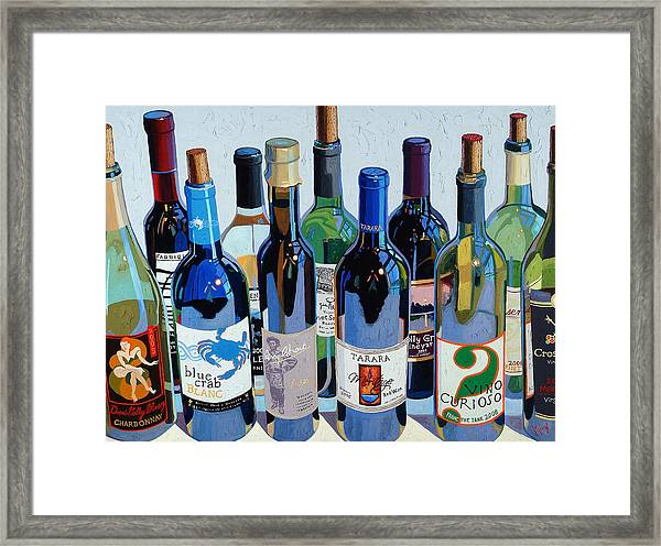 Make Mine Virginia Wine Number Three Framed Print