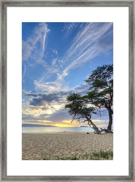 Makena Beach Maui Hawaii Sunset 2 Framed Print