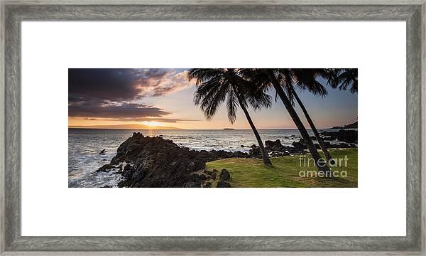 Makena Sunset Maui Hawaii Framed Print