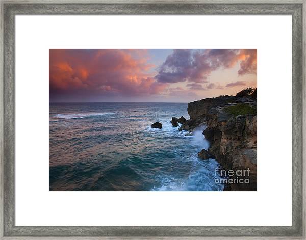 Makewehi Sunset Framed Print