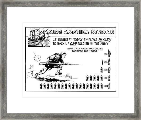 Making America Strong Cartoon Framed Print