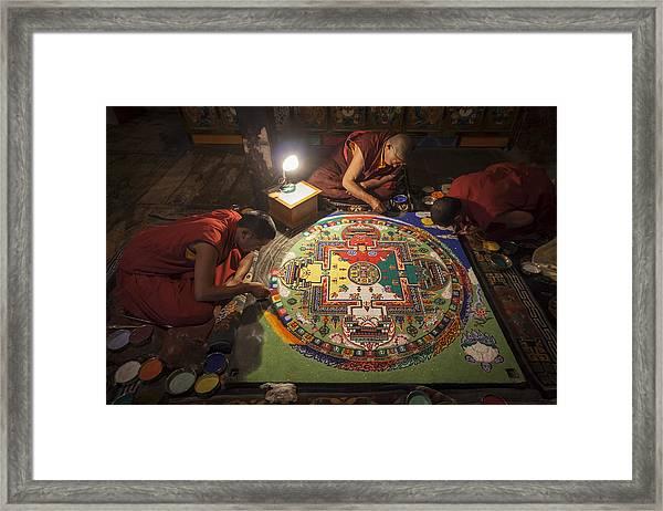 Making Of Mandala Framed Print