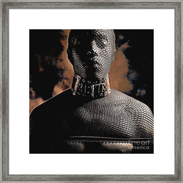 Male Masked Framed Print