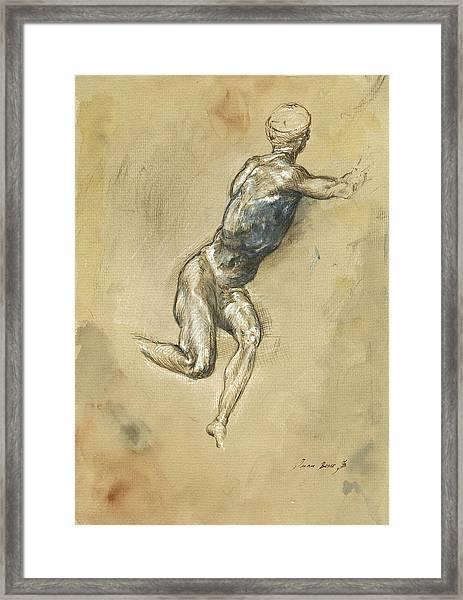 Male Nude Figure Framed Print