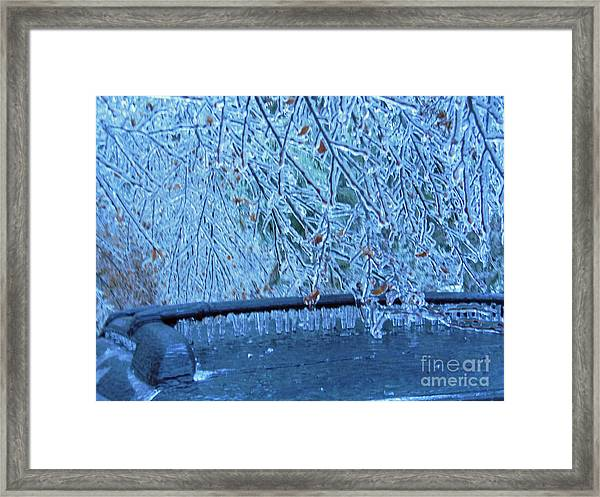 Malibu Icicles Framed Print