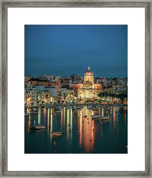 Malta Blue 6 Framed Print