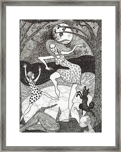 Mama Did The Moon Dance Framed Print