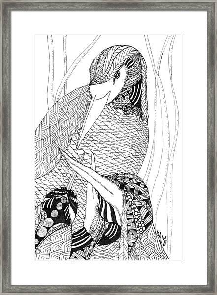 Mama Heron Framed Print