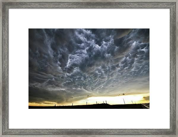 Mammatus Over Nebraska Framed Print