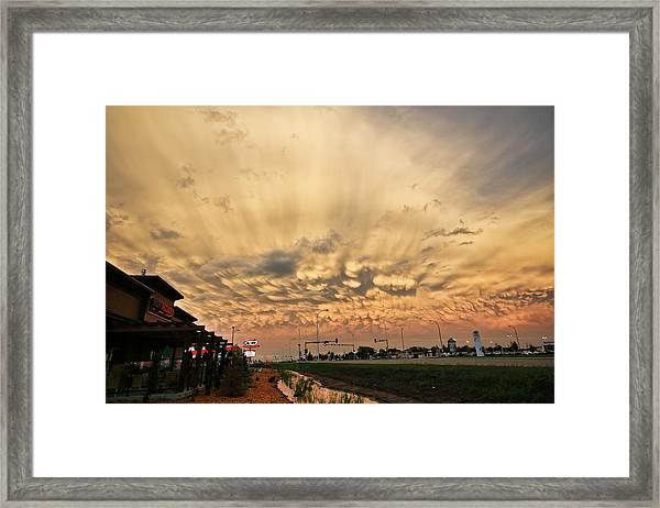 Mammatus Over Yorkton Sk Framed Print