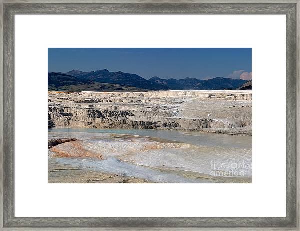 Mammoth Terrace Layers Framed Print