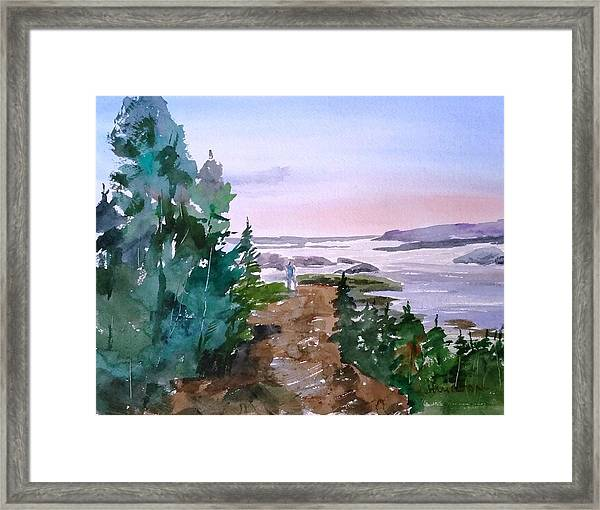 Man At Fraser Lake Bc Framed Print