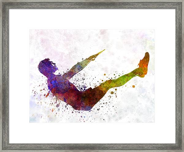 Man Exercising Workout Fitness  Framed Print