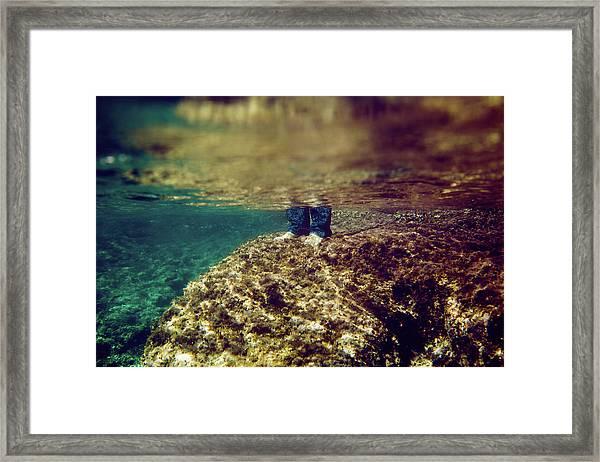 Man Feet Framed Print