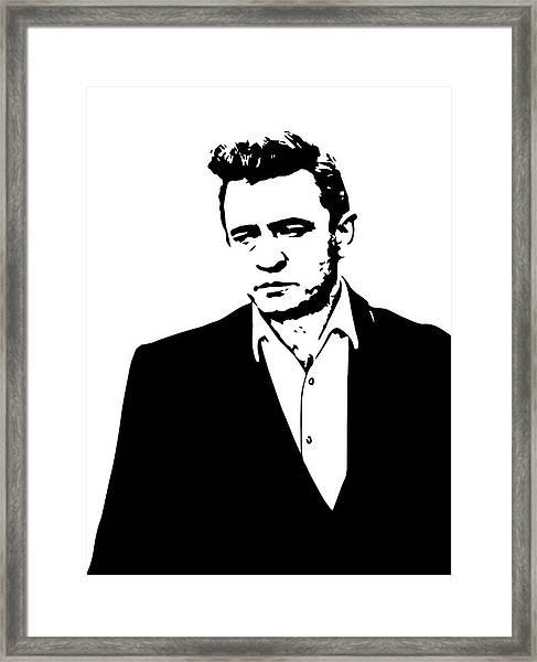 Man In Black Minimal Framed Print