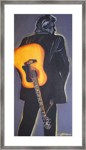 Man In Black's Back Framed Print
