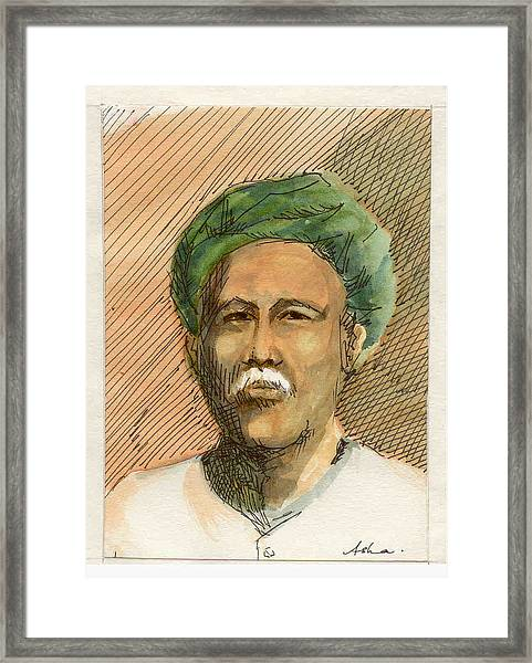 Man In Turban Framed Print