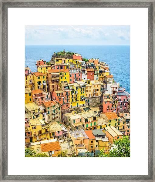 Manarola Cinque Terra City Framed Print
