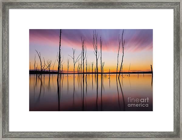 Manasquan Reservoir Long Exposure Framed Print